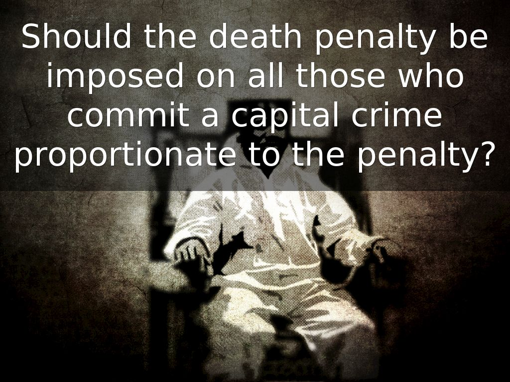 should capital punishment be re imposed Term papers, should death penalty be imposed to child rapist  in most places that practice capital punishment today, the death penalty is reserved as punishment .