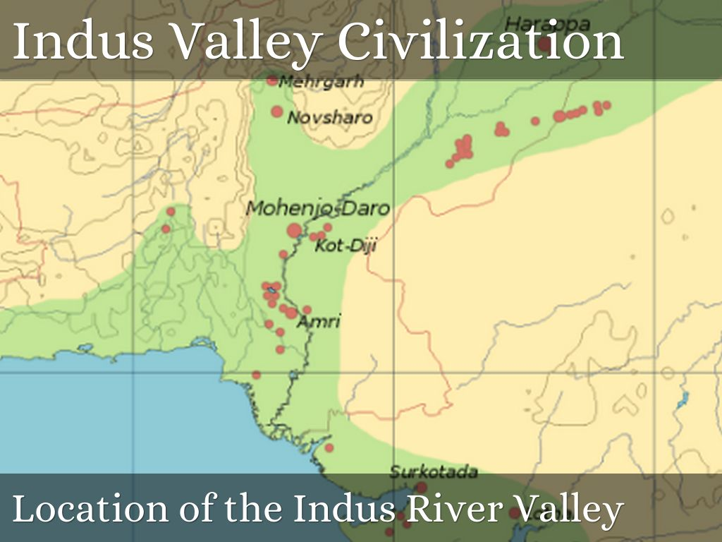 River Valley Civilization By Melody McElroy - World map indus river