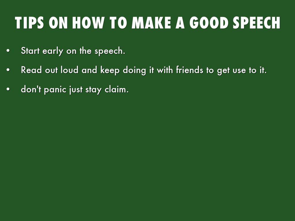 how to start a demonstration speech