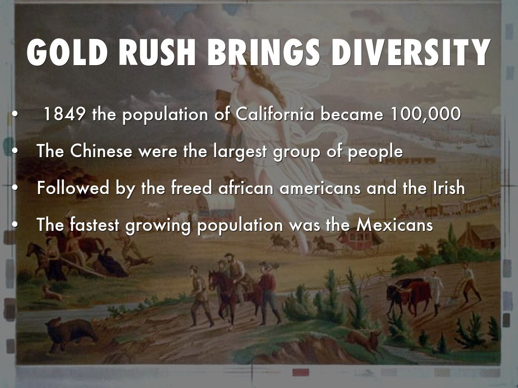 the gold rush of 1849 essay The topic of this essay is the very famous california gold rush as i'm sure most of you know the california gold rush is one of the most famous events in the history of the united states of america however, the first gold strike in america wasn't in california it was actually in north carolina.