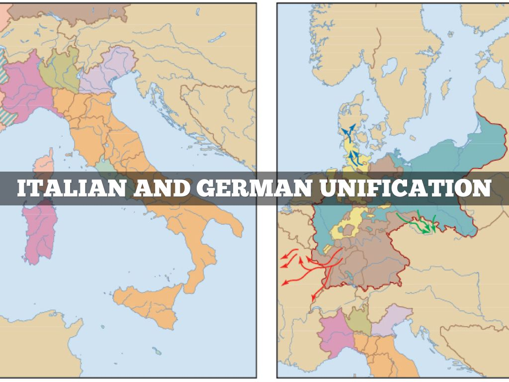 italian and german unification essay The german unification was mainly a product of prussian military and economic superiority, but bismarck was still a huge factor in the events leading up to the story of italy's unification is a bit more complicated the main figure in italian unification was camillo cavour cavour was the prime.