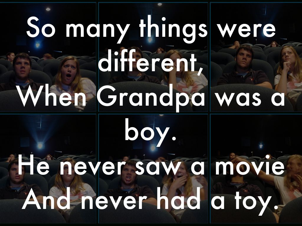 essay on when grandpa was a boy