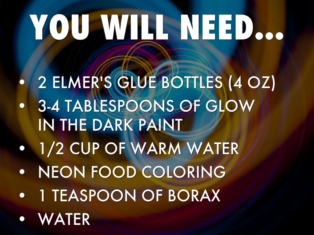 How to make glow in the dark slime by a o you will need ccuart Gallery
