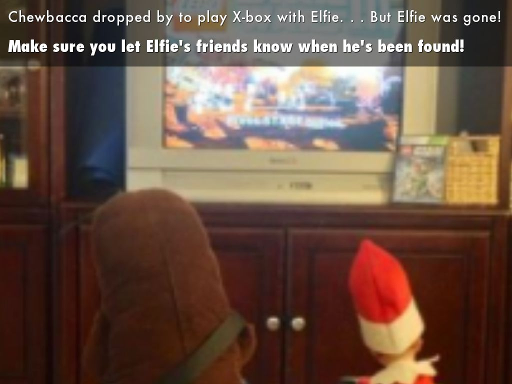 Make sure you let Elfie's friends know when he's been found!