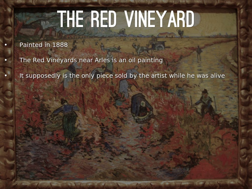 the red vineyard essay Free essays essay on calaveras vineyards essay on calaveras you will be able to continue to define the styles and tastes of stone creek's red and white.