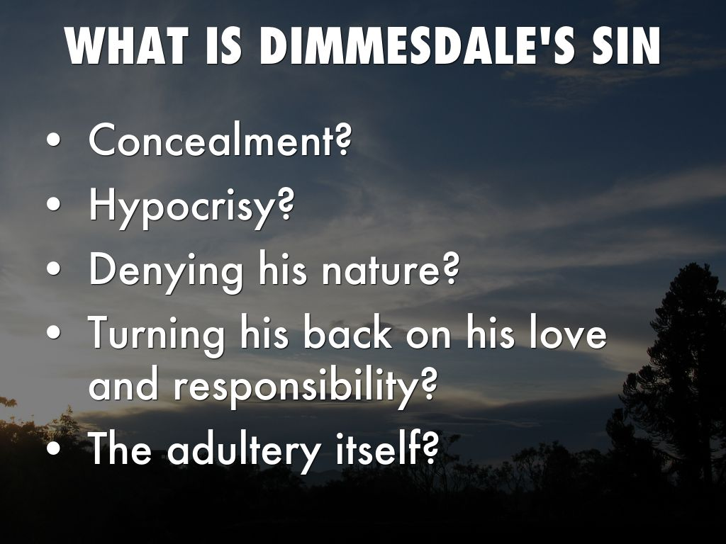 dimmesdale hypocrisy essay