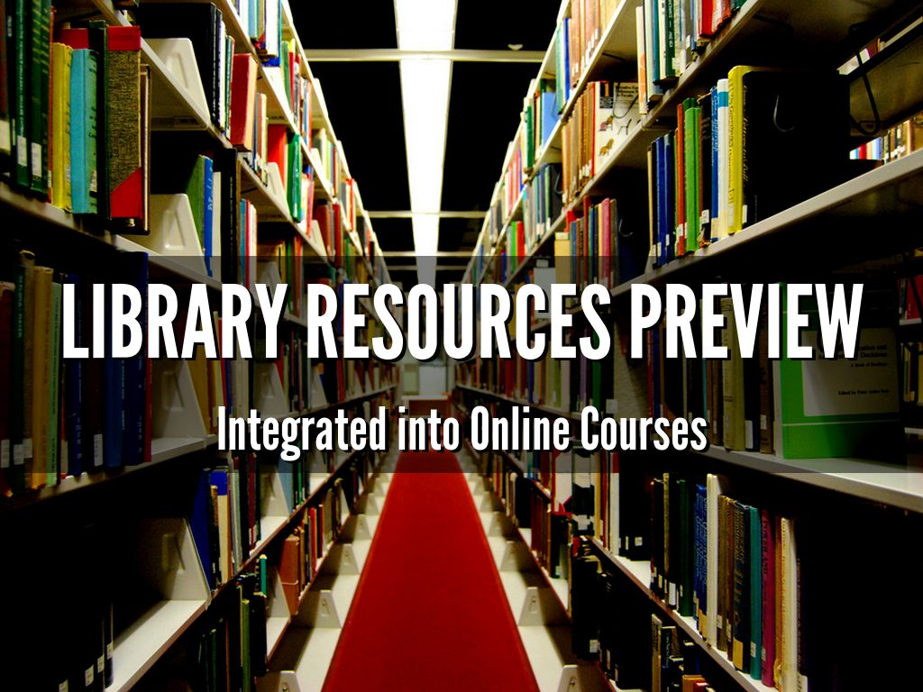 Library Resources preview