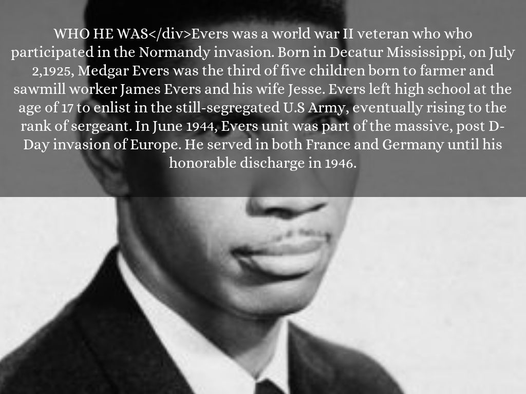 a biography of medgar evers and his contribution to unconstitutional segregated school The civil rights work of medgar evers on the 50th anniversary of his was unconstitutional his hard work week prior to his death medgar was buried at.