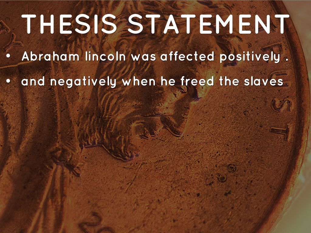 abraham lincoln research paper outline