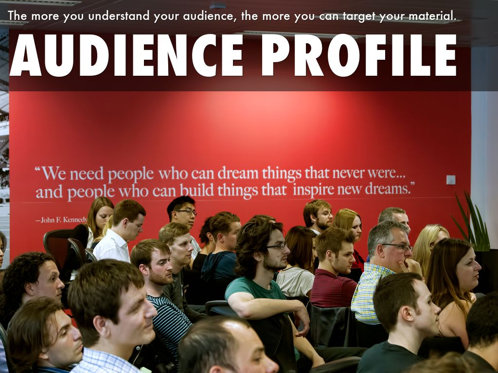 develop an audience profile