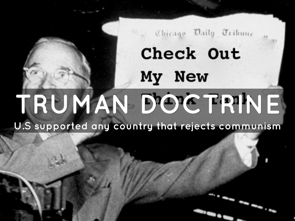 the historical background and impact of the truman doctrine The berlin blockade  president harry truman announced the truman doctrine,  plan was introduced to serve as an economic and financial extension of the doctrine.