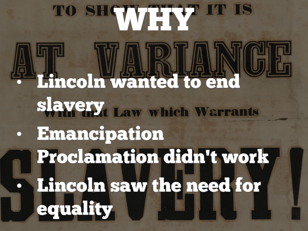 emancipation proclamation lincolns end of slavery
