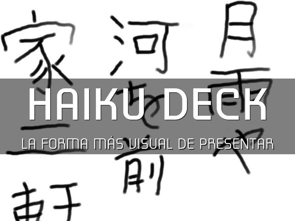 Why HaikuDeck is OK?
