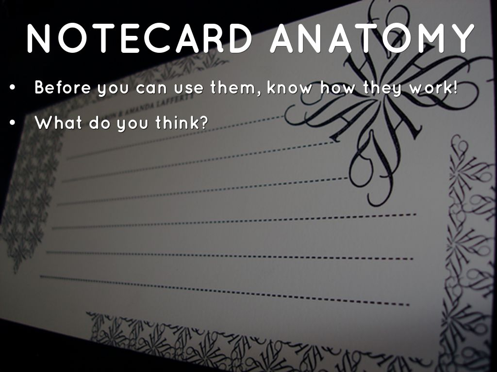 How to Make Effective Notecards by Jack Gagan