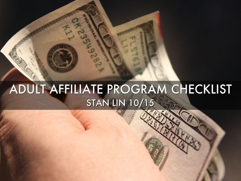 Adult affiliate program site