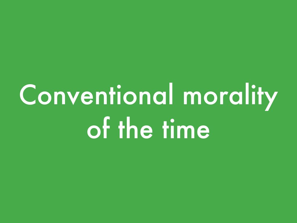 conventional morality After obtaining hundreds of responses to moral dilemmas, one groundbreaking cognitive-developmental psychologist, lawrence kohlberg, proposed that the development of moral reasoning is characterized by a sequence of six stages grouped into three general levels of morality: preconventional, conventional, and postconventional.