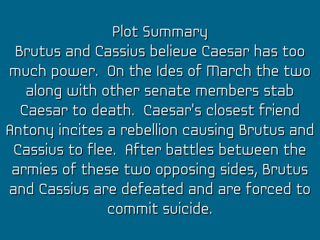 brutus cassius essay Julius caesar: brutus and mark in william shakespeare's play, julius caesar, there is a major difference between two of the characters, brutus and mark antony brutus was very honorable and antony was very persuasive.