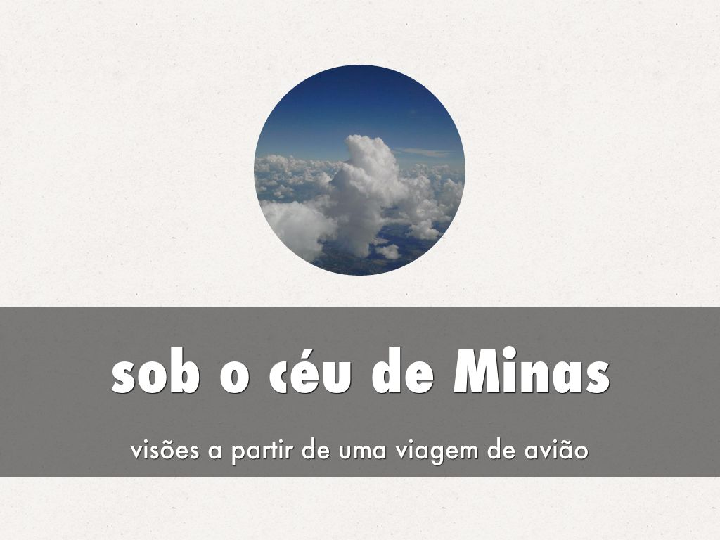 sob o céu de Minas