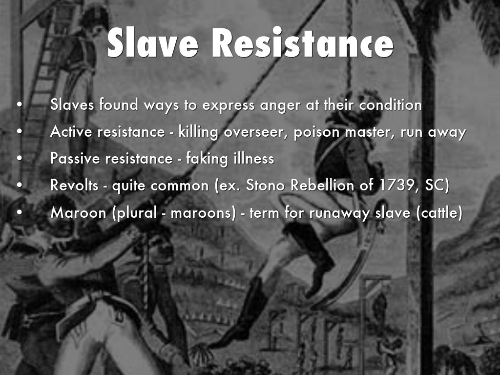 Resistance to Slavery