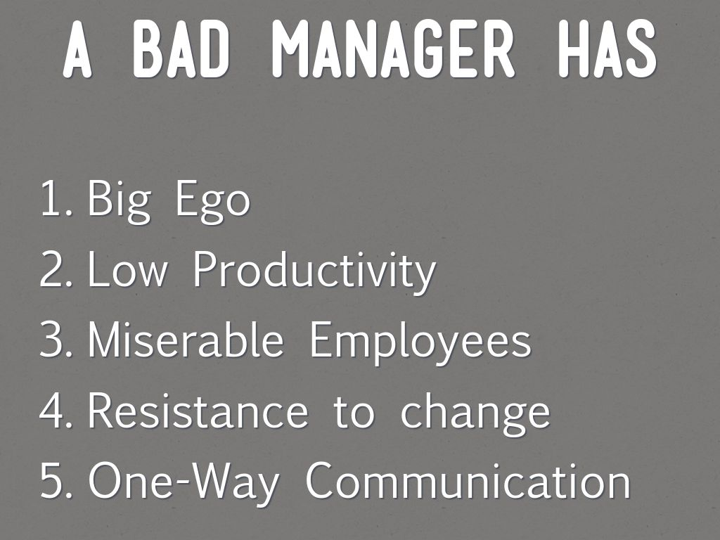 a bad manager