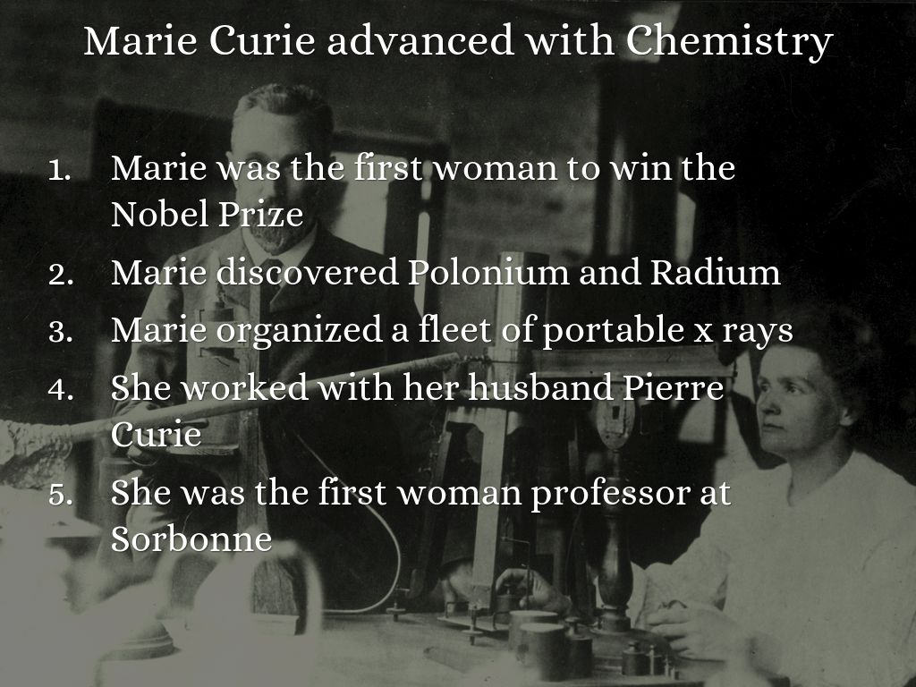 biographies of marie and pierre curie and their discoveries of polonium and radium Profiles polish physicist marie curie her contribution to cancer treatment role of pierre curie in applying radium as possible cancer treatment establishment of the radium industry award received by the curries for their discoveries in radioactivity.