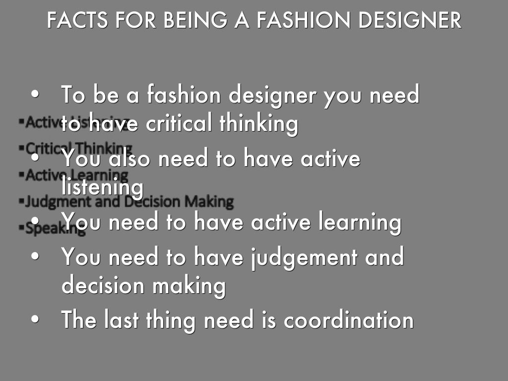10 facts about fashion