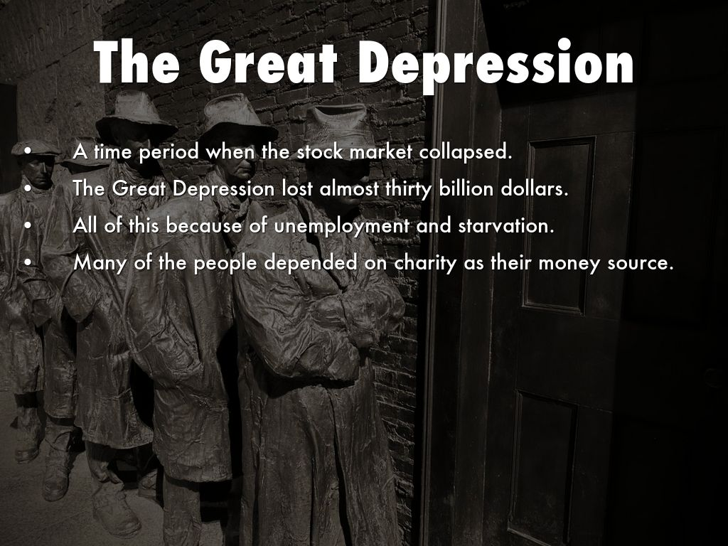 us stock market collapse led to the great depression Stock market crash articles it also started the great depression stock market crash the stock market started catching on as a great way to make fast.
