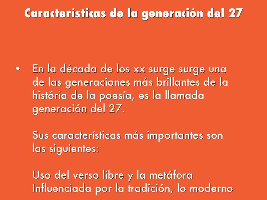 Las vanguardias y la generaci n del 27 by marquitusriu for Caracteristicas del vanguardismo