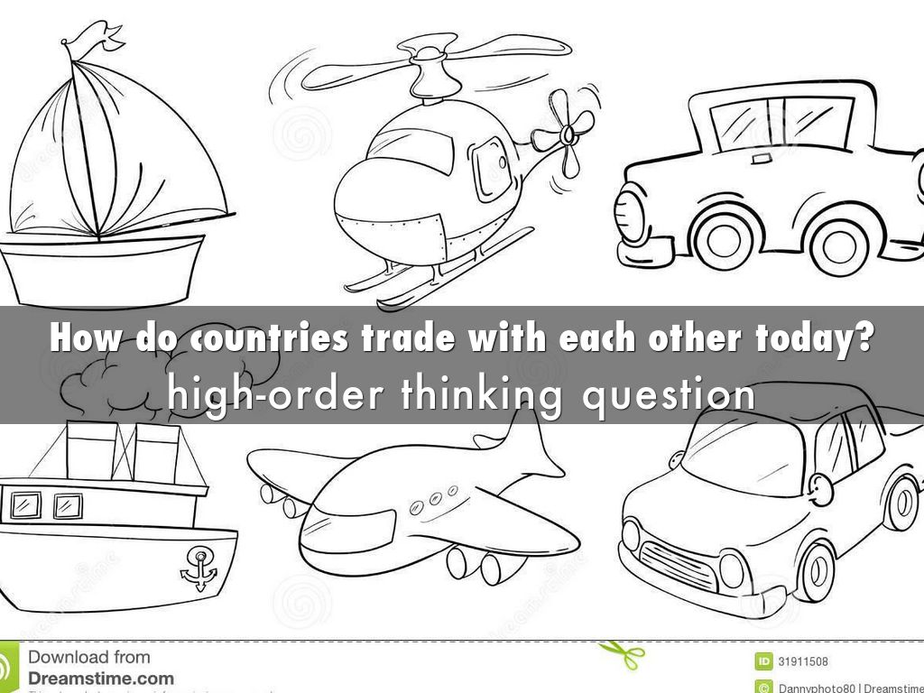"why do countries trade with each Why do countries trade with each other show, using examples, why this may be to do with principle of comparative advantage introduction in 1776 adam smith stated, ""if a foreign country can supply us with a commodity cheaper than we ourselves can make it, better buy it of them with some part of the produce of our own industry, employed in a."