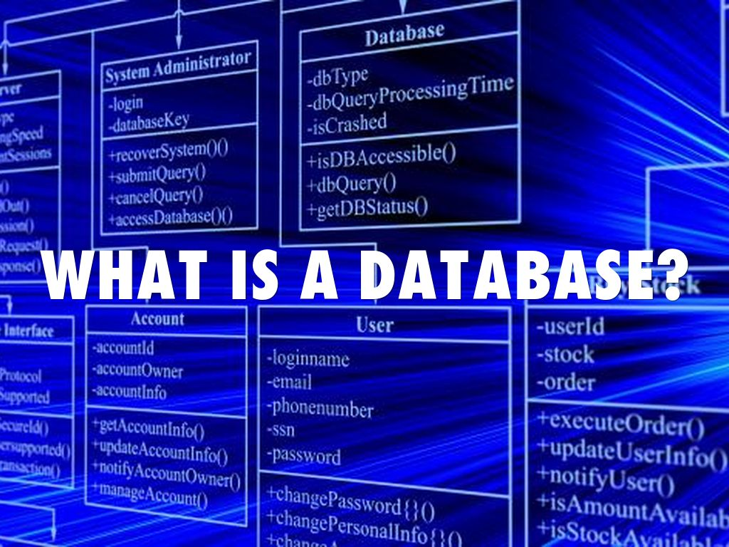 what is a database  by tyler escoto