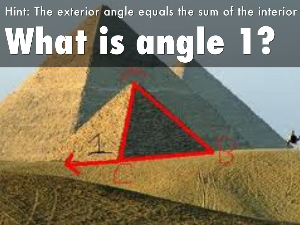 Exterior Angles Of A Triangle By