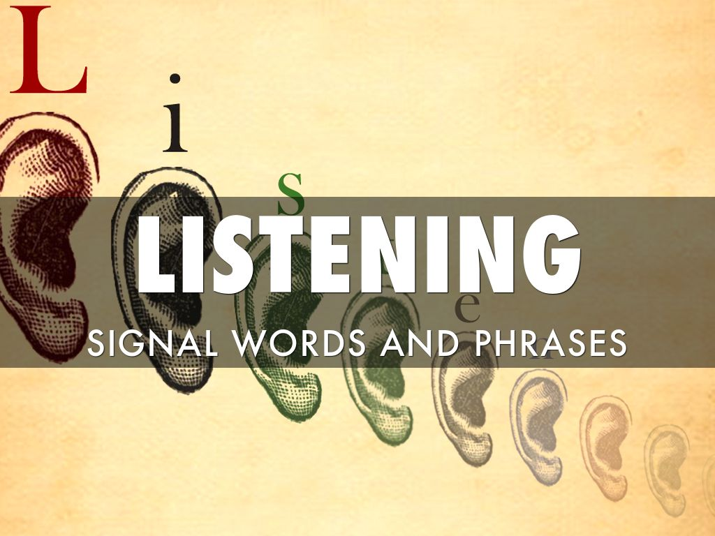 signal words and phrases