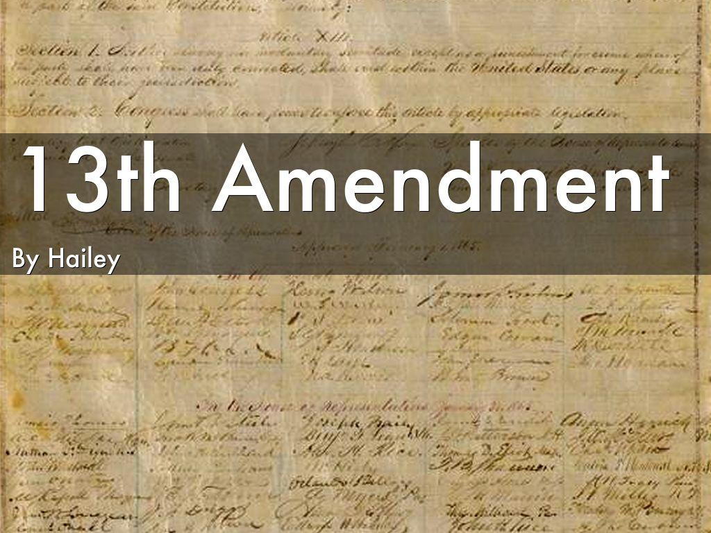 th amendment by hailey m da 13th amendment