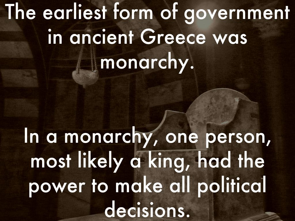 Types of Government in Ancient Greece by Rachel Marrion