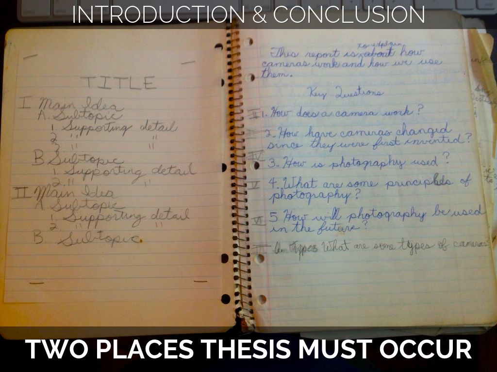 placement of thesis in introduction