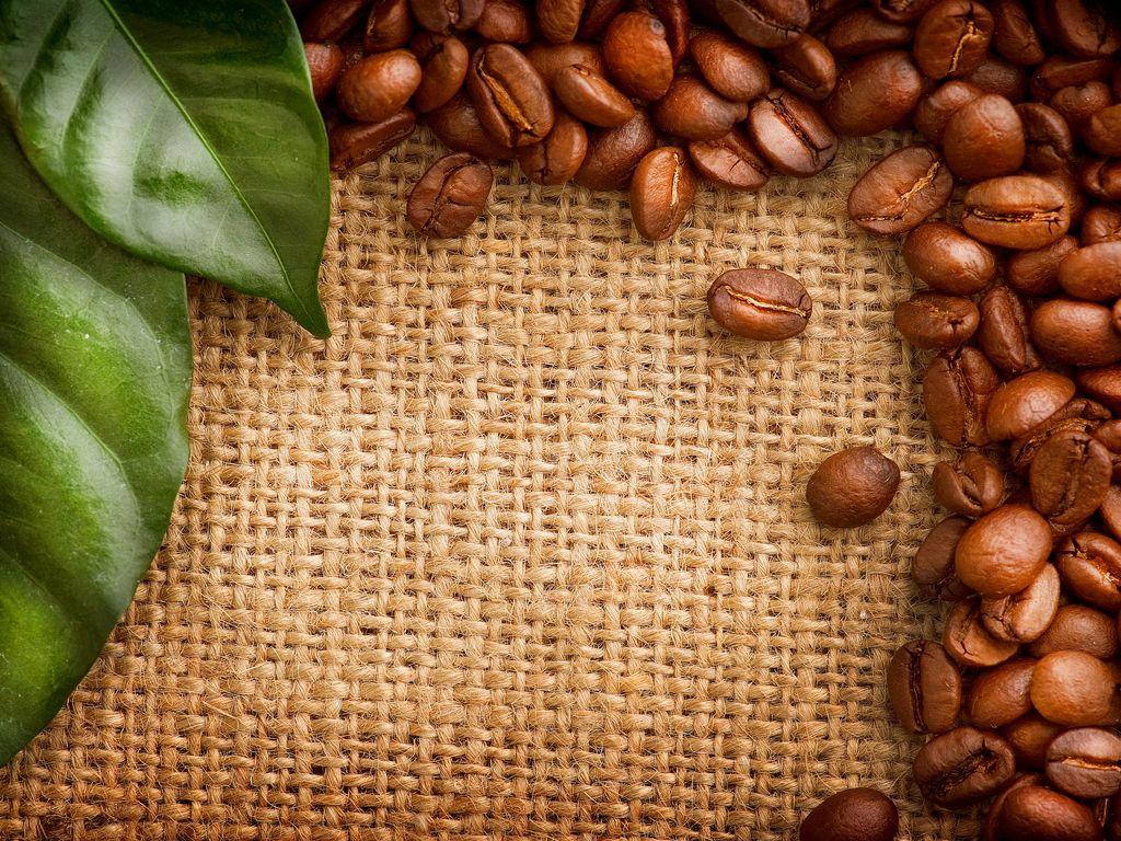 кофейные зерна мешковина ткань  № 3696087 без смс