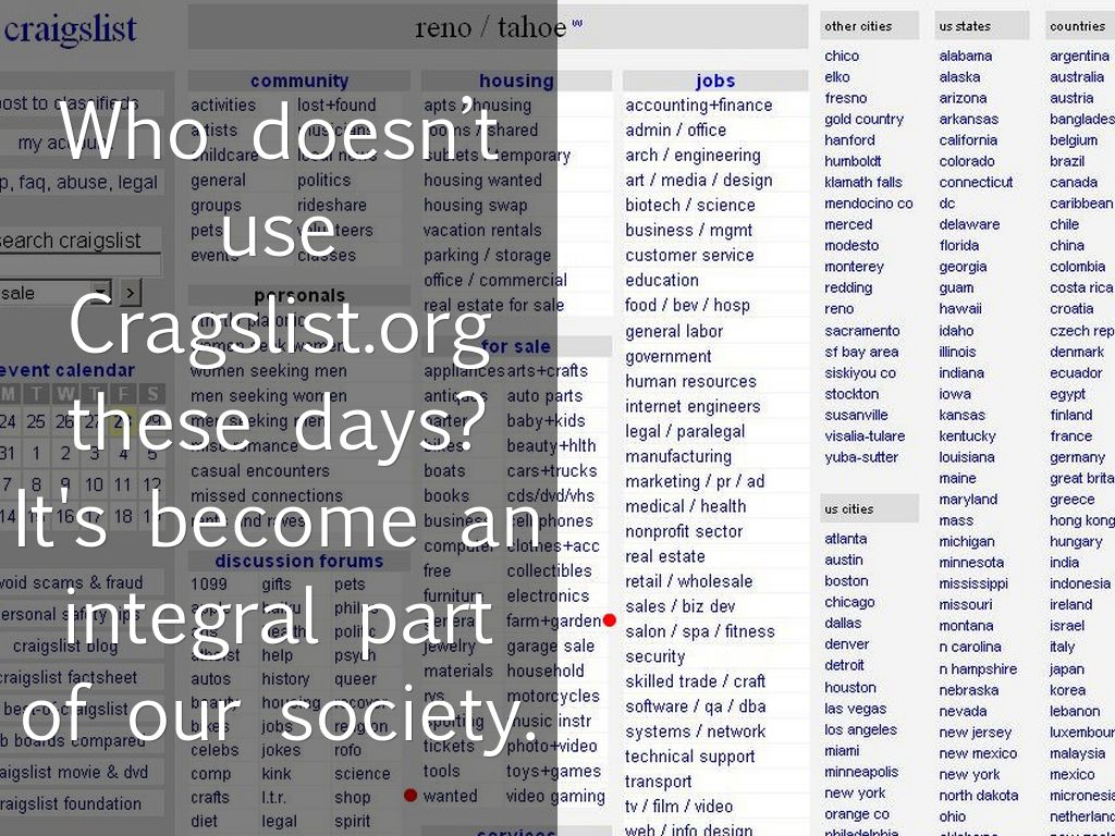 The Death of Craigslist? by abdeel marketing
