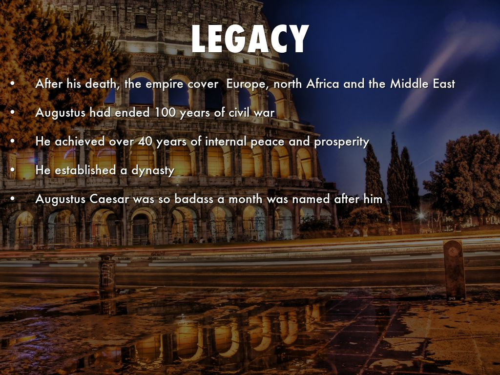 the legacy of caesar augustus