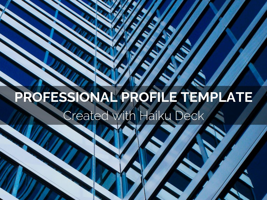 Copy of Professional Profile Template