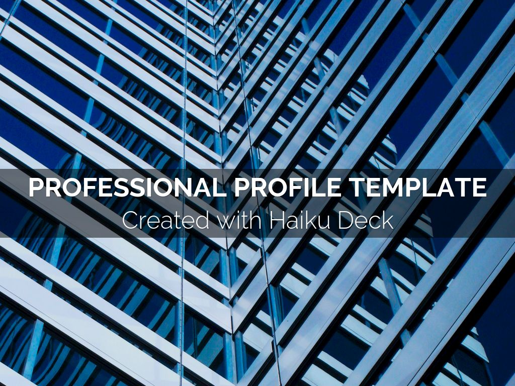 Professional profile template by reusable template professional profile template accmission Choice Image