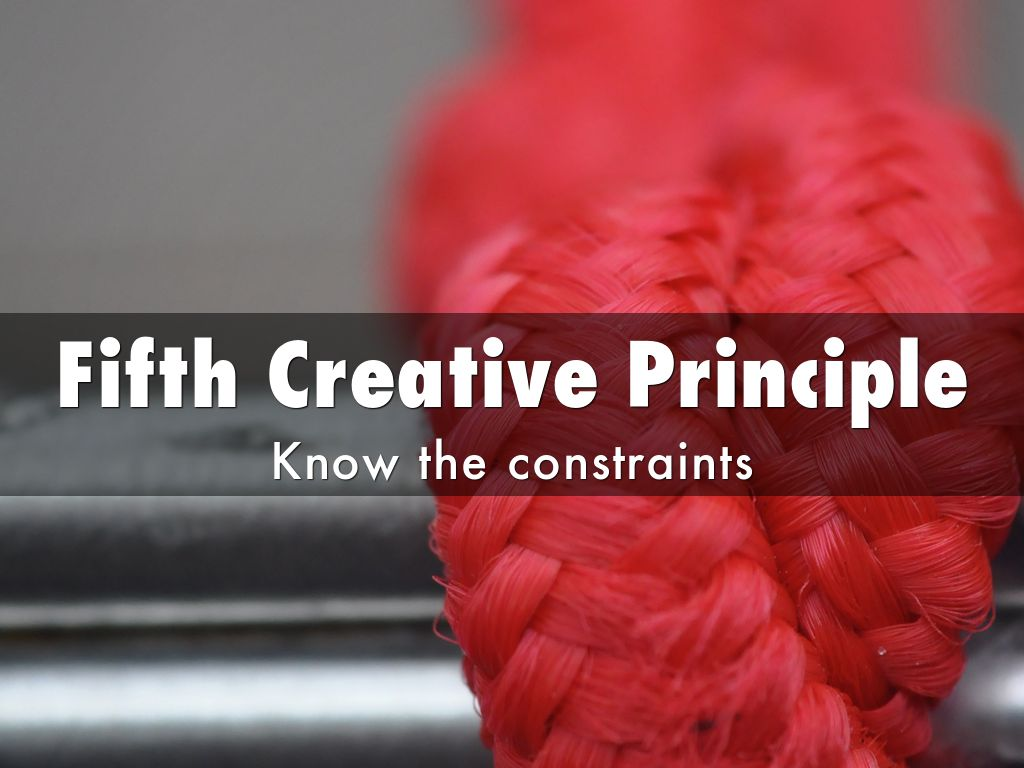 creativity principles