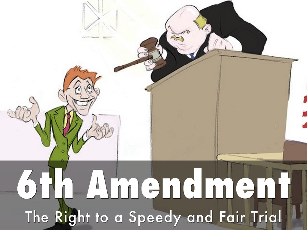 6th ammendment The 6th amendment to the us constitution sets out many rights for defendants during a criminal prosecution, including the right of the accused to confront their accusers.