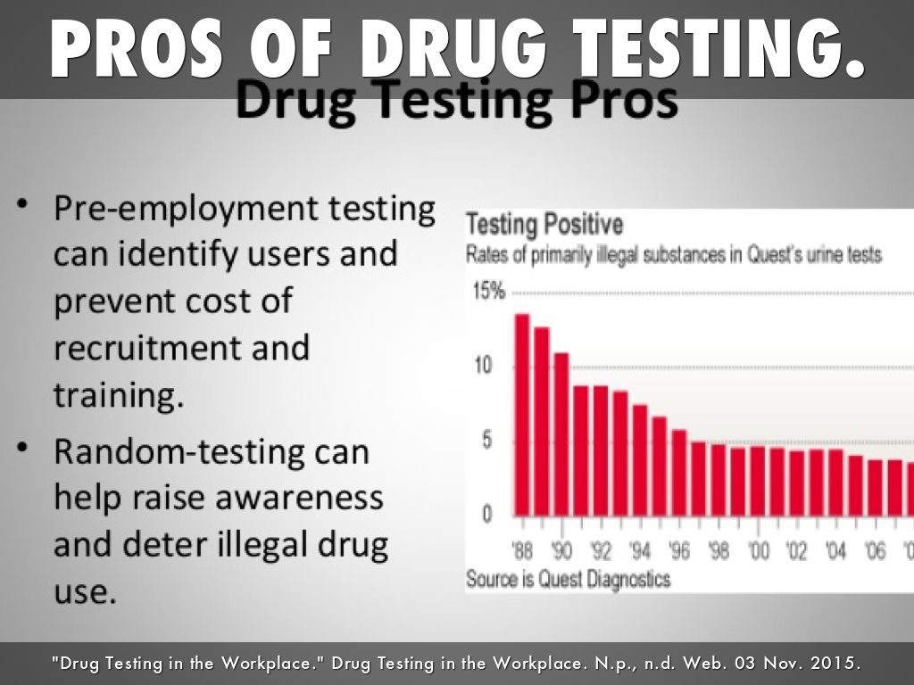 the debate about the pre employment and random drug testing by us companies Employers are aware of the long-lasting benefits of workplace drug testing for pre-employment screening, periodic testing, and random substance abuse checks nowadays, goliath companies like nexxon and wal-mart implement unique drug testing policies for all prospective and current employees.