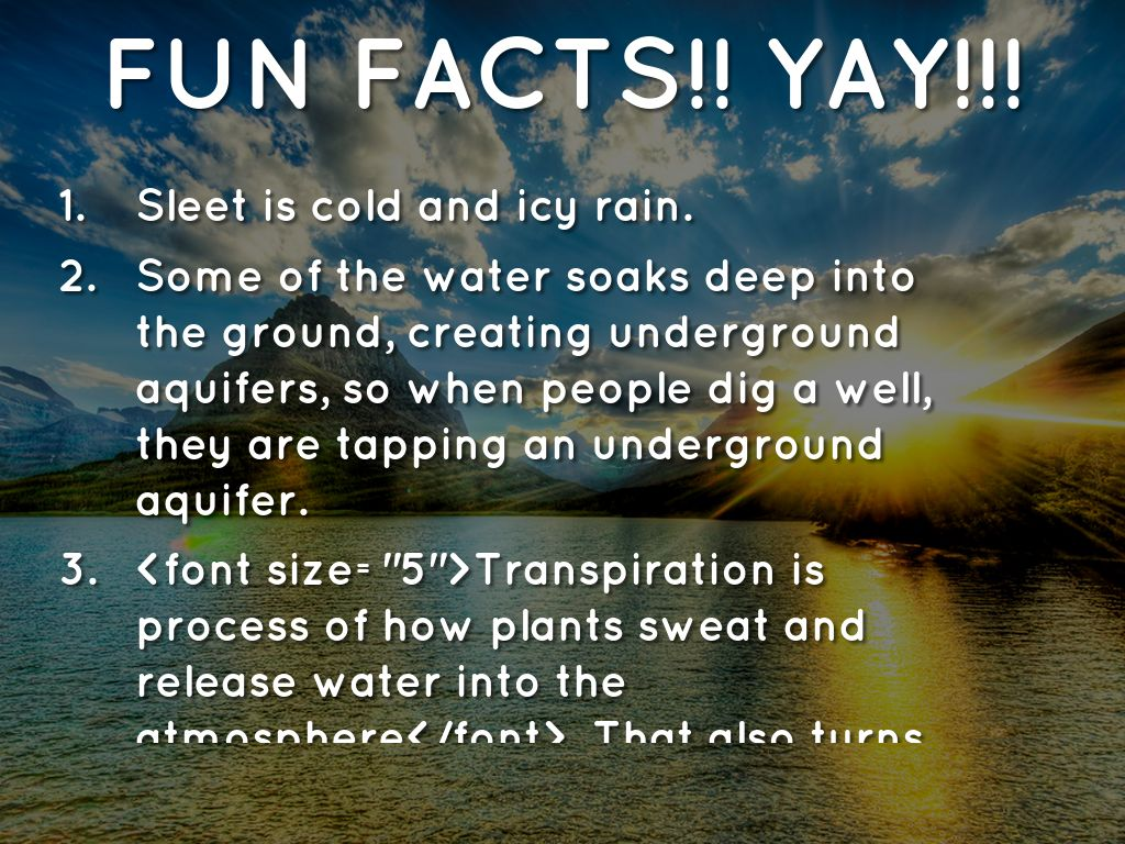 Worksheets Speech In Watercycl the water cycle by amiyaa brown fun facts yay