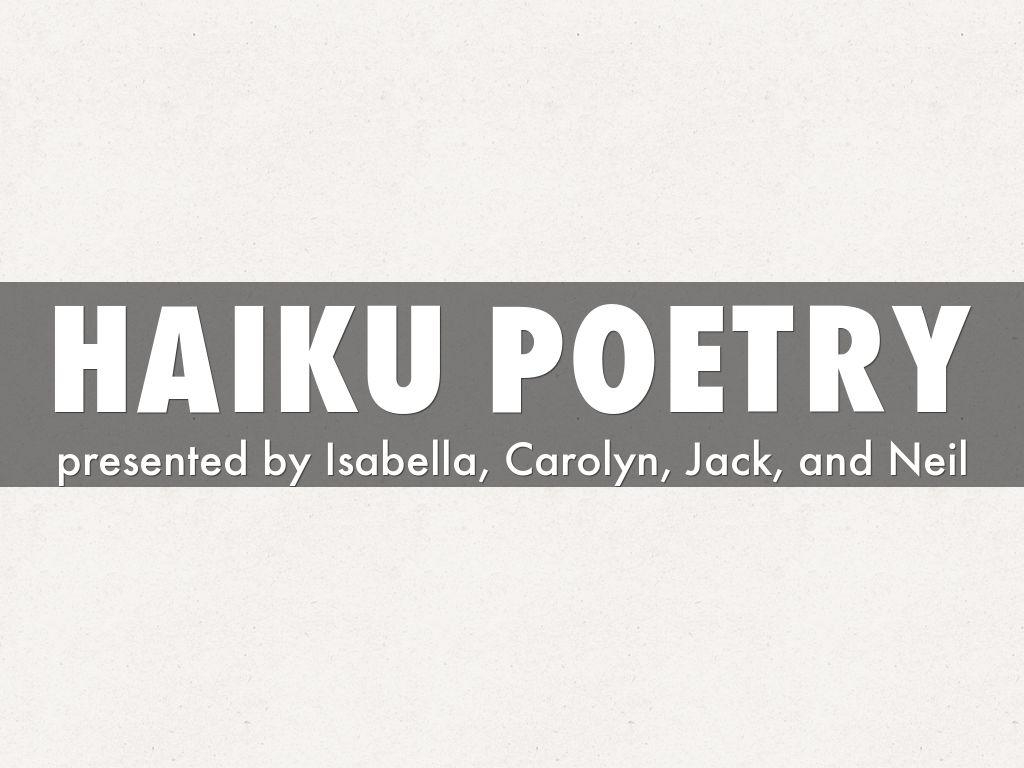 Haiku Poetry