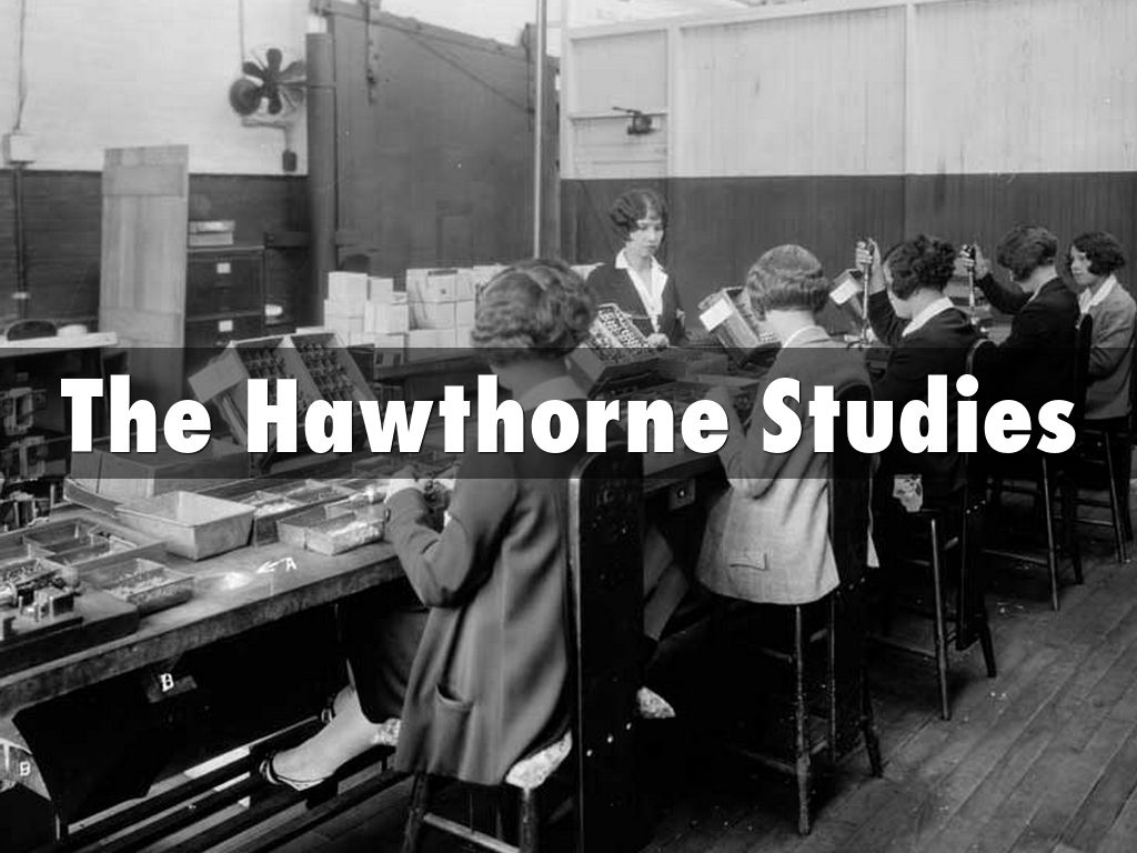 hawthorne studies As the hawthorne studies and hackman and oldham's job characteristics model  showed, meeting the psychological needs of employees through a.
