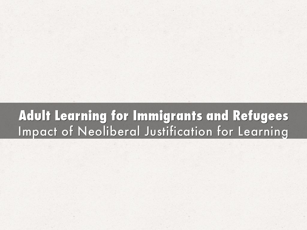 Adult Learning for Immigrants and Refugees