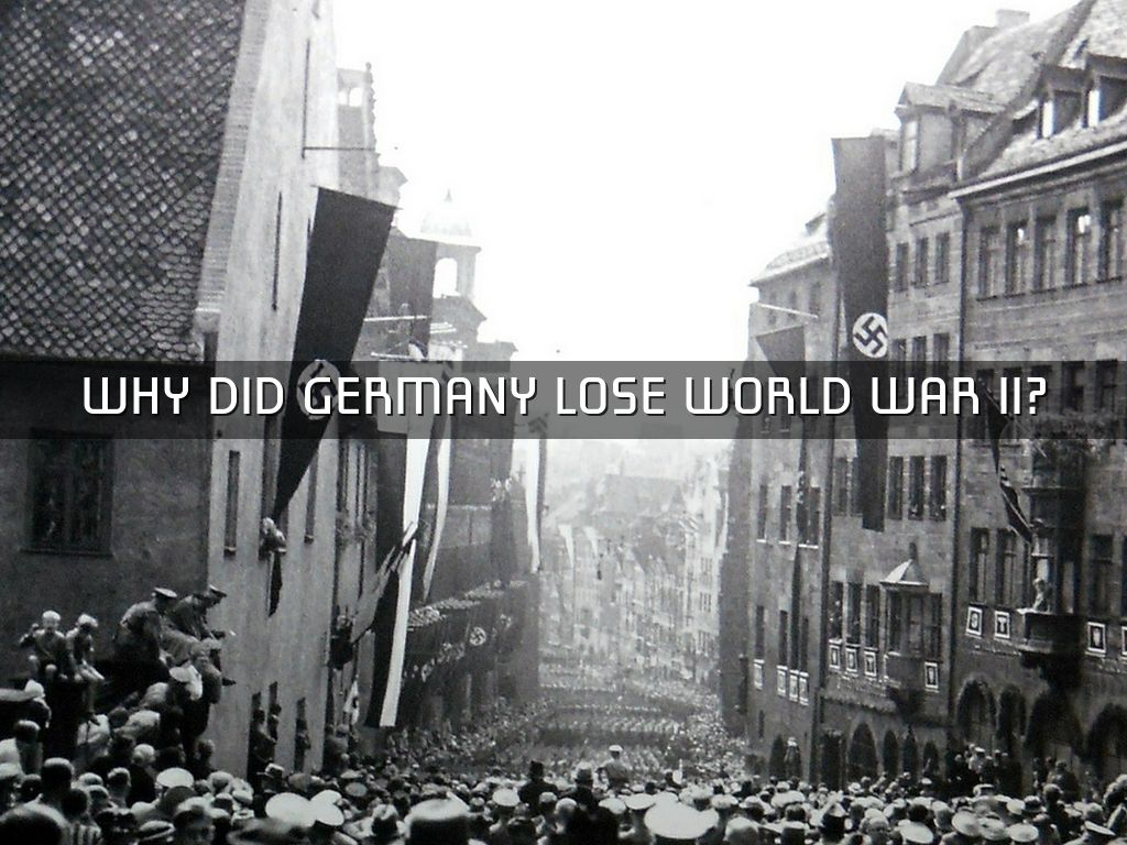 why germany lost wwii Why germany really lost world war ii this article tells us what the title says it also sounds very much like a decent explanation for the current [ 2010 ] war in.