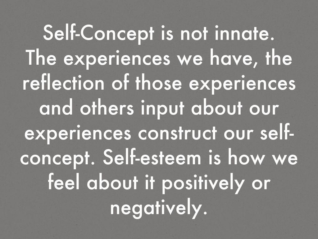 the construct of self esteem