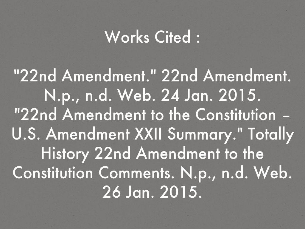 22nd amendment summary